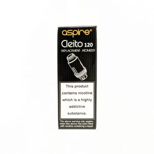vape, vaping, coil, coils, aspire coils, pack of 5, aspire cletio 120 coils, cleito coil, 0.16 ohms